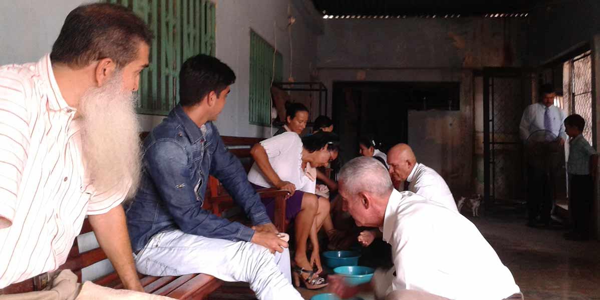 Sábado, 24 de Septiembre del 2016, Rito lavamineto de los pies