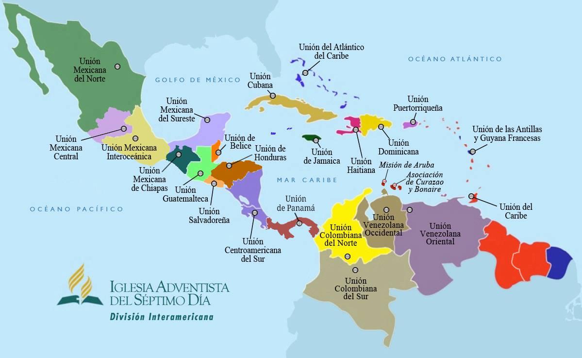 Mapa territorio de la División Interamericana